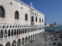 共和国总督宫殿-圣标记正方形-威尼斯-意大利 库存照片