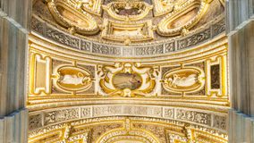 共和国总督的宫殿的天花板 免版税库存图片