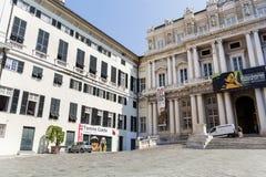 共和国总督的宫殿,热那亚,意大利 免版税库存照片