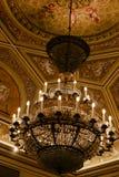 共和国总督` s宫殿内部-天花板和枝形吊灯 免版税库存图片