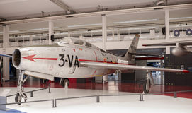共和国F-84F Thunderstreak 1950年在Astronauti博物馆  库存照片