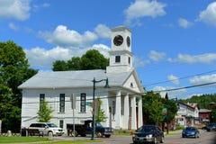 共济会的寺庙,约翰逊,佛蒙特 免版税库存照片