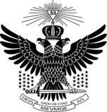 共济会的老鹰 皇族释放例证