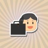关于买卖人的平的例证设计,导航动画片 库存照片