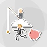 关于买卖人的平的例证设计,导航动画片 库存图片