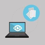 关于保安系统的平的例证 免版税库存照片