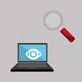 关于保安系统的平的例证 免版税库存图片