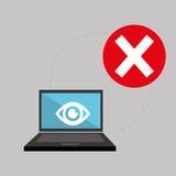 关于保安系统的平的例证 免版税图库摄影