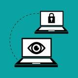 关于保安系统的平的例证 库存照片