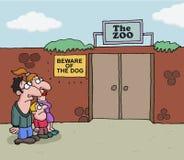关于动物园的概念性动画片 皇族释放例证