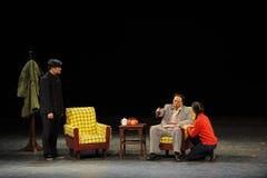 关于反腐败人民反腐败剪影的毛泽东进入大阶段 免版税库存照片