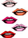关于各种各样的颜色的嘴 图库摄影