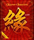 关于命运的传染媒介中国书法 免版税库存照片