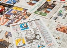 关于唐纳德・川普的讽刺画查理的Hebdo 免版税库存照片