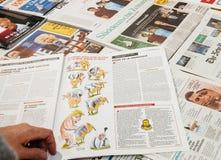 关于唐纳德・川普的讽刺画查理的Hebdo 免版税图库摄影