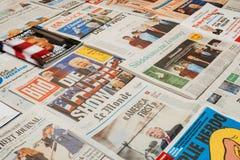 关于唐纳德・川普的主要出版物 免版税图库摄影