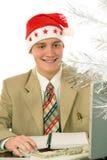 关于圣诞节的想法 免版税库存图片