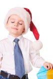 关于圣诞节礼物的梦想 免版税库存照片