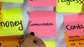 关于在白板黏贴的贴纸的词通信 影视素材