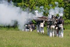 关于场面战争的1812次争斗制定 免版税图库摄影