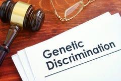 关于基因歧视的纸 免版税图库摄影