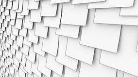 关于墙壁的动画片稠粘的便条纸 办公室文书工作或备忘录概念 4K无缝的圈移动式摄影车夹子 皇族释放例证