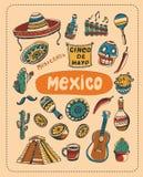 关于墨西哥的乱画 免版税库存照片