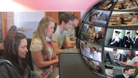关于学生的录影用不同的学年 影视素材