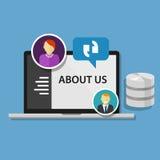 关于我们页概念象数据描出公司 免版税图库摄影