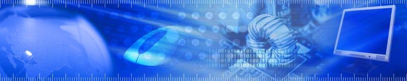 关于技术的通信标头 免版税库存照片