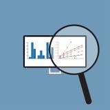 关于显示器的企业分析图表报告 EPS10 免版税图库摄影