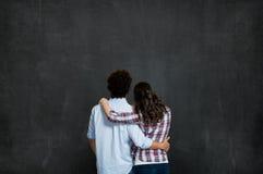 关于未来的夫妇视觉 免版税库存图片