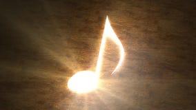 关于桌的发光的音符 音乐魔术  与光的笔记 97 皇族释放例证
