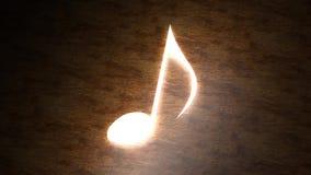 关于桌的发光的音符 音乐魔术  与光的笔记 96 皇族释放例证