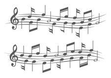 关于梯级的音乐笔记 免版税库存照片