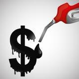 关于油价、石油和气体概念的平的例证 图库摄影