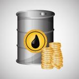 关于油价、石油和气体概念的平的例证 免版税库存图片
