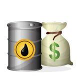 关于油价、石油和气体概念的平的例证 库存照片