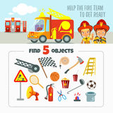 关于消防队的比赛概念 库存图片