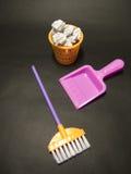 关于清洁的背景在办公室或幼儿园 免版税库存照片