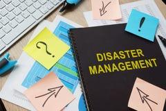 关于灾害管理的文件 免版税库存照片