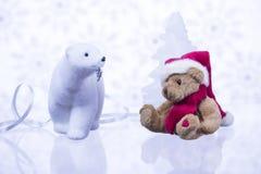 关于熊的圣诞节故事 图库摄影