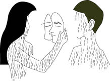 关于爱感觉的例证 免版税库存图片