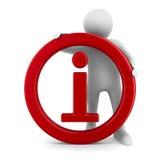 关于白色背景的标志信息 免版税库存照片