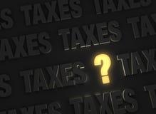 关于税的一个照亮问题 免版税库存图片