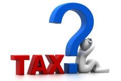 关于税的问题 免版税库存照片
