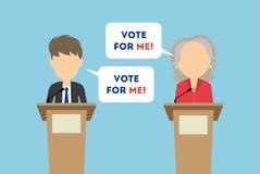 关于竞选的辩论 库存照片