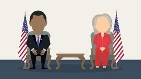 关于竞选的辩论 免版税图库摄影