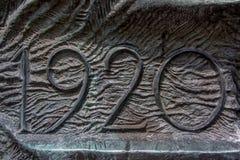 关于纪念碑西莱亚西叛乱者的数据 免版税库存照片
