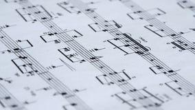 关于纸张的音乐附注 影视素材